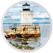 Bug Light Study Round Beach Towel