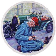 Bugatti-angouleme France Round Beach Towel by Derrick Higgins