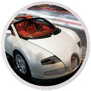 Bugatti Is Art In Motion  Round Beach Towel