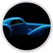Bugatti T57sc Atlantic Round Beach Towel