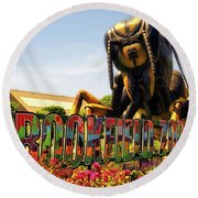 Bugs At Brookfield Zoo Signage Round Beach Towel