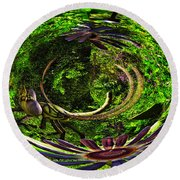 Bugs At The Zoo Dragonfly Round Beach Towel