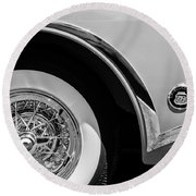 Buick Skylark Wheel Emblem Round Beach Towel