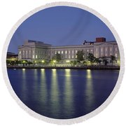 Buildings At The Waterfront, Cape Fear Round Beach Towel