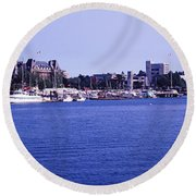 Buildings At The Waterfront, Inner Round Beach Towel