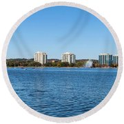 Buildings At The Waterfront, Kempenfelt Round Beach Towel
