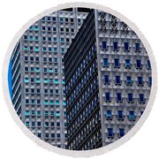 Buildings Downtown Pittsburgh Round Beach Towel