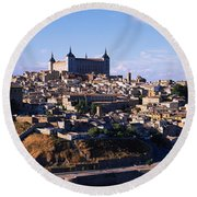 Buildings In A City, Toledo, Toledo Round Beach Towel