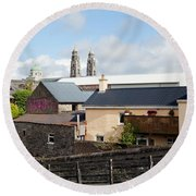 Buildings In A Town, Mullingar, County Round Beach Towel