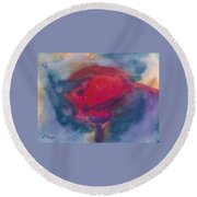 Bull Fight Abstract Round Beach Towel