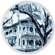 Bull Street House Savannah Ga Round Beach Towel