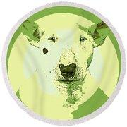Bull Terrier Graphic 2 Round Beach Towel