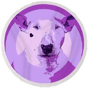 Bull Terrier Graphic 5 Round Beach Towel