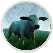 Bull... Round Beach Towel