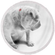 Bulldog 3 -  Featured In Comfortable Art Group Round Beach Towel