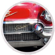 Bullet Bumpers - 1956 Cadillac Round Beach Towel
