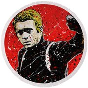 Bullitt IIi Round Beach Towel by Chris Mackie