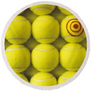 Bullseye Tennis Balls Round Beach Towel