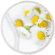 Bunch Of Daisies Round Beach Towel