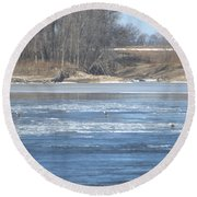 Bunches Of Eagles Round Beach Towel