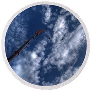 Bungee Jumper Hdr Round Beach Towel