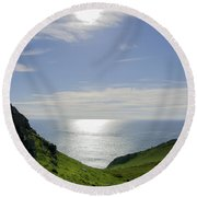 Bunglass - Donegal Ireland Round Beach Towel