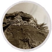 Bunker Above The Dak Poko River Near Dak To Kontum Province Vietnam 1968 Round Beach Towel