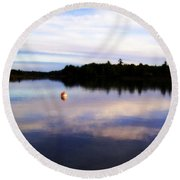 Buoy On The Torch Bayou Round Beach Towel
