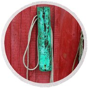 Buoys At Rockport Motif Number One Round Beach Towel