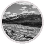 Burke Behind The Fence Round Beach Towel