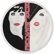 Burlesque Round Beach Towel
