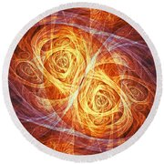 Burning Butterfly Round Beach Towel