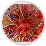 Burning Passion Of Love Round Beach Towel by Deborah Benoit