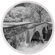 Burnside Bridge 0239 Round Beach Towel by Guy Whiteley