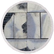 Burnt Brick 2 Round Beach Towel