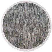 Burnt Trees Abstract II Round Beach Towel