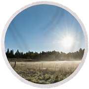 Burst Of Sunshine Round Beach Towel