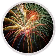 Bursting In Air Round Beach Towel
