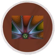 Bursting Star Nova Fractal Round Beach Towel