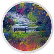 Bursting With Color 2 Round Beach Towel