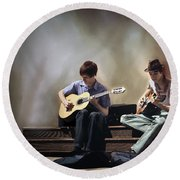 Buskers Round Beach Towel