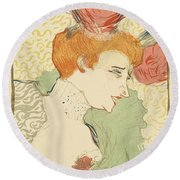 Bust Of Mlle. Marcelle Lender Round Beach Towel