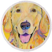 Buster Round Beach Towel by Pat Saunders-White