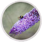 Busy Busy Bee Round Beach Towel
