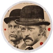 Butch Cassidy And The Sundance Kid Round Beach Towel