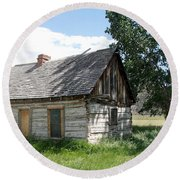 Butch Cassidy Childhood Home Round Beach Towel
