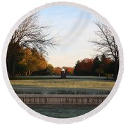 Butler University Mall Round Beach Towel