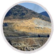 Butte Berkeley Pit Mine Round Beach Towel