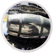 Butterbeer Inn Round Beach Towel