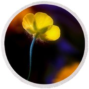 Buttercup Baby... Round Beach Towel